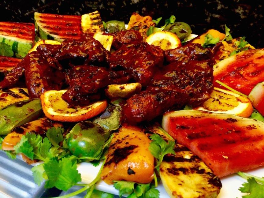 #bbqchicken #grilledvegetables