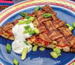 #TheSmokingBaconandHogCookbook #bacon #quesadilla